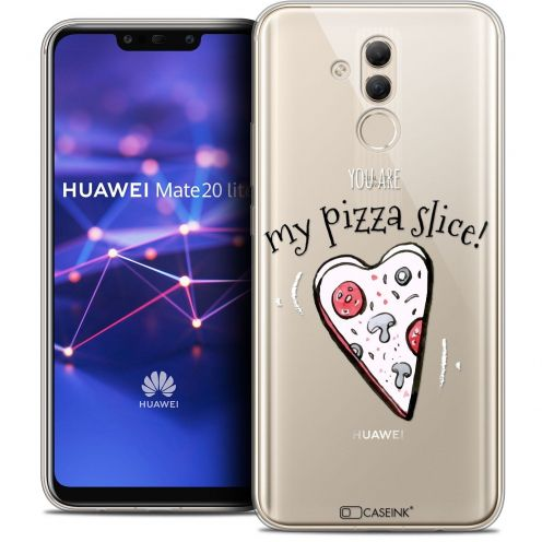"Extra Slim Crystal Gel Huawei Mate 20 Lite (6.3"") Case Love My Pizza Slice"
