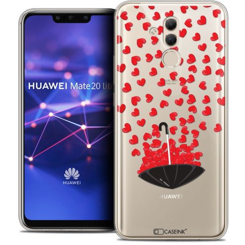"Extra Slim Crystal Gel Huawei Mate 20 Lite (6.3"") Case Love Parapluie d'Amour"