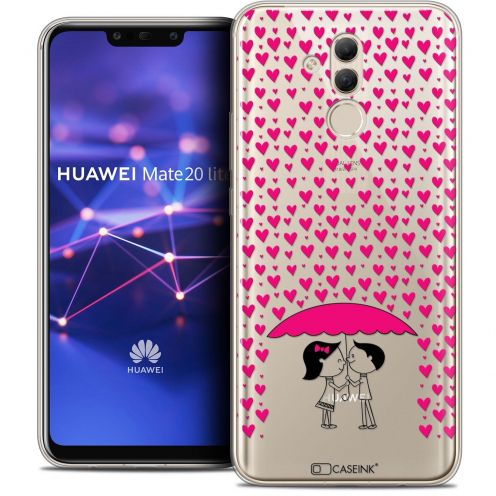 """Coque Crystal Gel Huawei Mate 20 Lite (6.3"""") Extra Fine Love - Pluie d'Amour"""