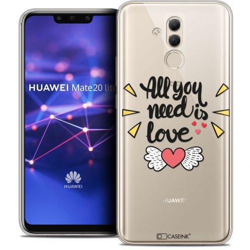 "Extra Slim Crystal Gel Huawei Mate 20 Lite (6.3"") Case Love All U Need Is"