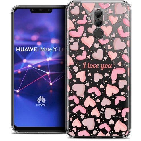 "Extra Slim Crystal Gel Huawei Mate 20 Lite (6.3"") Case Love I Love You"