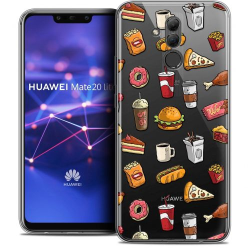 "Extra Slim Crystal Gel Huawei Mate 20 Lite (6.3"") Case Foodie Fast Food"