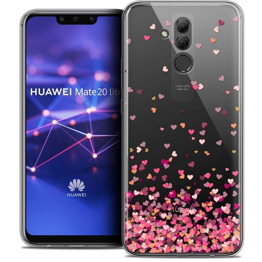 "Coque Crystal Gel Huawei Mate 20 Lite (6.3"") Extra Fine Sweetie - Heart Flakes"