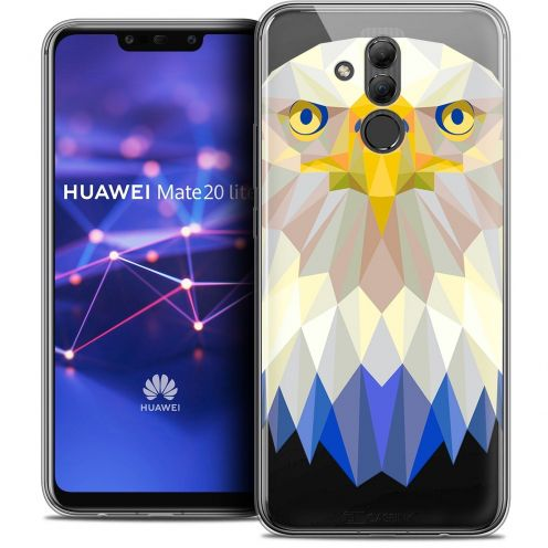 """Coque Crystal Gel Huawei Mate 20 Lite (6.3"""") Extra Fine Polygon Animals - Aigle"""