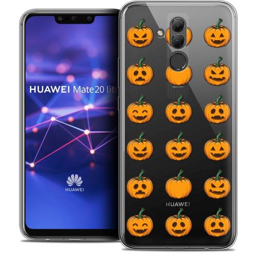 "Coque Crystal Gel Huawei Mate 20 Lite (6.3"") Extra Fine Halloween - Smiley Citrouille"