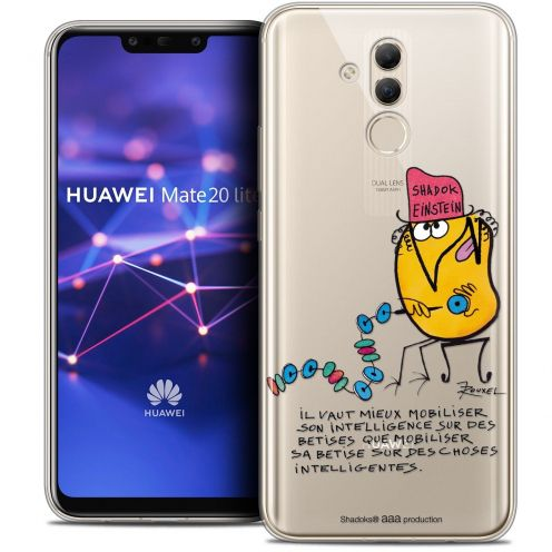 "Extra Slim Crystal Gel Huawei Mate 20 Lite (6.3"") Case Les Shadoks® Einstein"