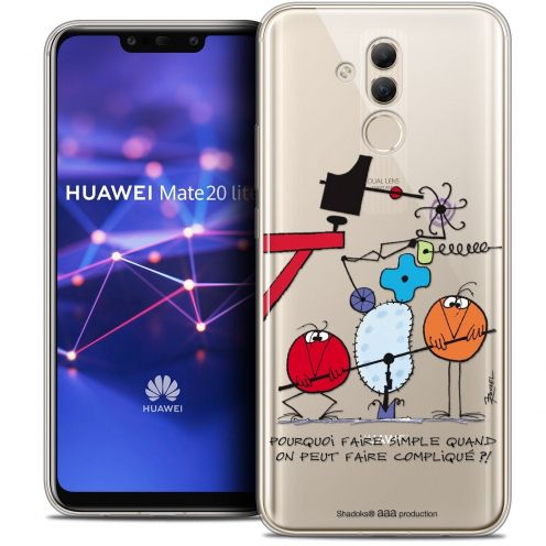 "Coque Gel Huawei Mate 20 Lite (6.3"") Extra Fine Les Shadoks® - Pourquoi faire Simple"
