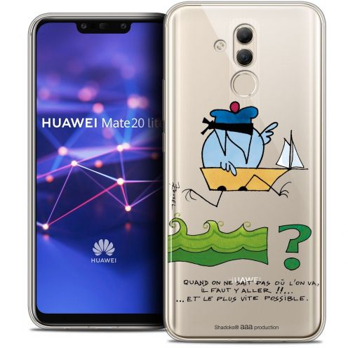 """Coque Gel Huawei Mate 20 Lite (6.3"""") Extra Fine Les Shadoks® - Il Faut Y Aller !!"""