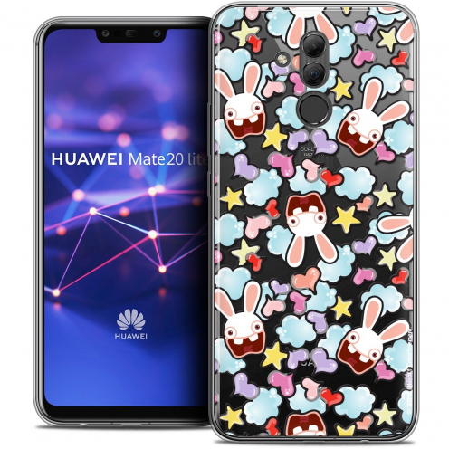 "Crystal Gel Huawei Mate 20 Lite (6.3"") Case Lapins Crétins™ Love Pattern"