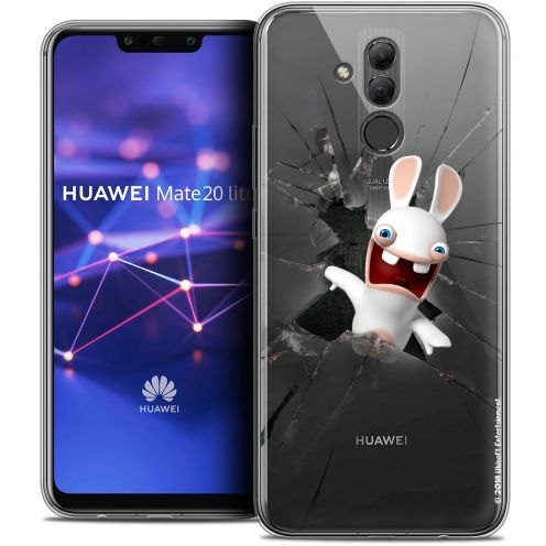 """Coque Gel Huawei Mate 20 Lite (6.3"""") Extra Fine Lapins Crétins™ - Breaking Glass"""