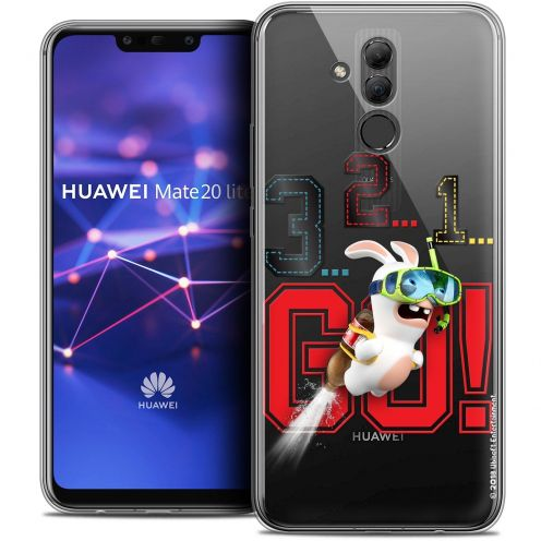 """Coque Gel Huawei Mate 20 Lite (6.3"""") Extra Fine Lapins Crétins™ - 321 Go !"""