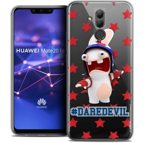 "Crystal Gel Huawei Mate 20 Lite (6.3"") Case Lapins Crétins™ Dare Devil"