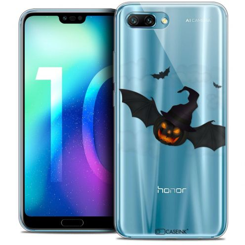 """Coque Crystal Gel Huawei Honor 10 (5.8"""") Extra Fine Halloween - Chauve Citrouille"""