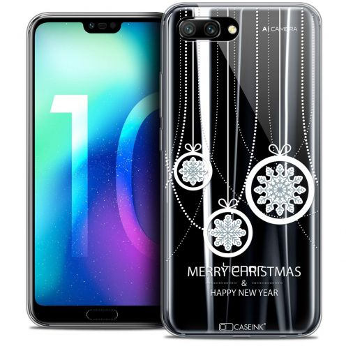 "Coque Crystal Gel Huawei Honor 10 (5.8"") Extra Fine Noël 2017 - Christmas Balls"