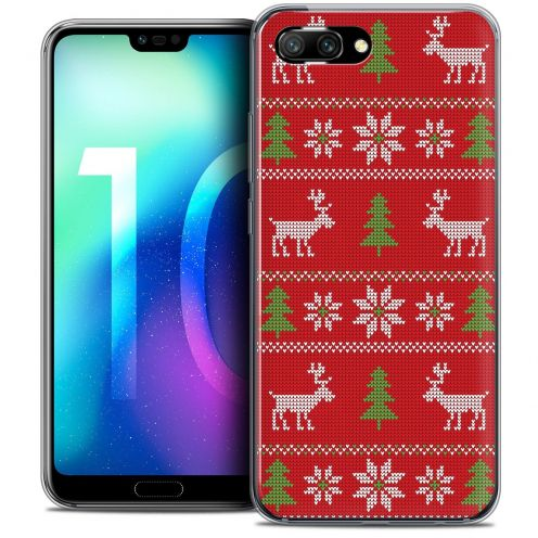"Coque Crystal Gel Huawei Honor 10 (5.8"") Extra Fine Noël 2017 - Couture Rouge"