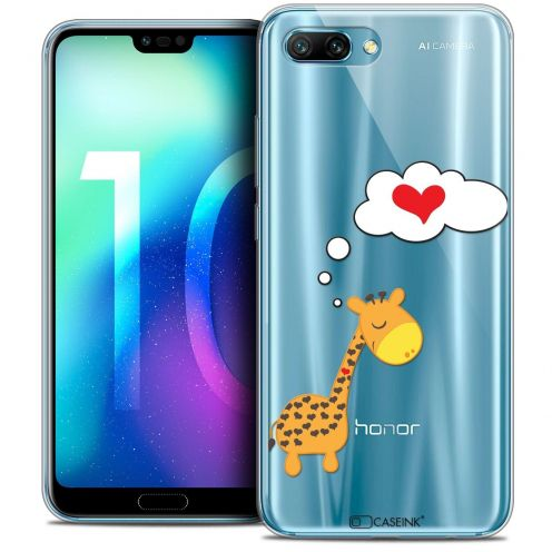"Coque Crystal Gel Huawei Honor 10 (5.8"") Extra Fine Love - Girafe Amoureuse"