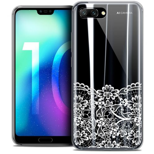 "Coque Crystal Gel Huawei Honor 10 (5.8"") Extra Fine Spring - Bas dentelle"