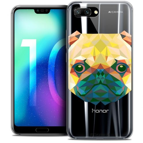 "Coque Crystal Gel Huawei Honor 10 (5.8"") Extra Fine Polygon Animals - Chien"
