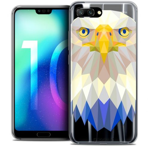 "Coque Crystal Gel Huawei Honor 10 (5.8"") Extra Fine Polygon Animals - Aigle"