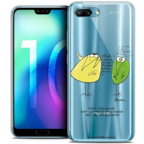 "Coque Gel Huawei Honor 10 (5.8"") Extra Fine Les Shadoks® - Le Dialogue"