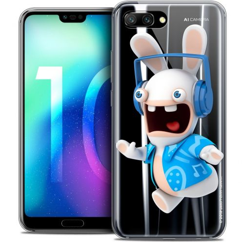 """Crystal Gel Huawei Honor 10 (5.8"""") Case Lapins Crétins™ Techno Lapin"""
