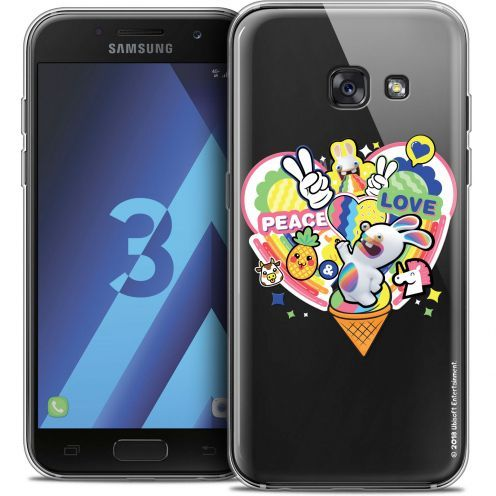 Crystal Samsung Galaxy A3 2017 (A320) Case Lapins Crétins™ Peace And Love