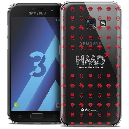 Extra Slim Crystal Samsung Galaxy A3 2017 (A320) Case Petits Grains® HMD* Hero en Mode Discret