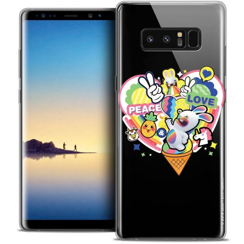 """Crystal Gel Samsung Galaxy Note 8 (6.3"""") Case Lapins Crétins™ Peace And Love"""