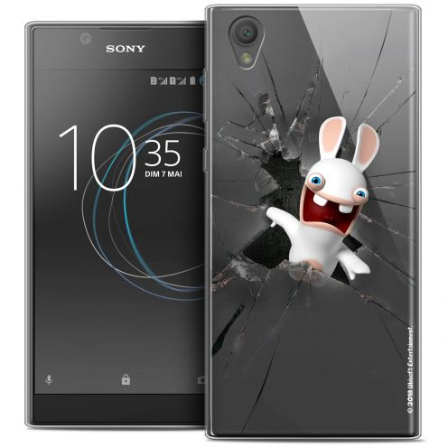 """Crystal Gel Sony Xperia L1 (5.5"""") Case Lapins Crétins™ Breaking Glass"""