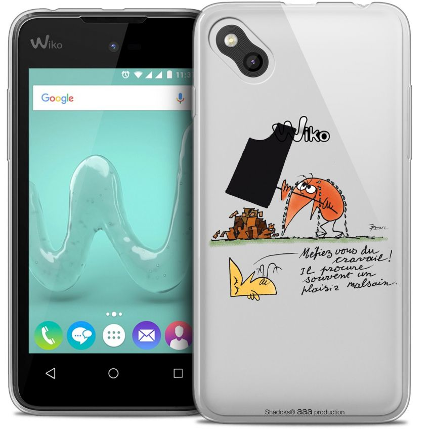 Extra Slim Crystal Gel Wiko Sunny Case Les Shadoks® Le Travail