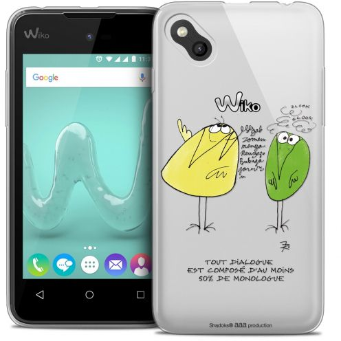 Extra Slim Crystal Gel Wiko Sunny Case Les Shadoks® Le Dialogue