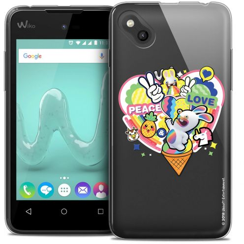 Crystal Gel Wiko Sunny Case Lapins Crétins™ Peace And Love