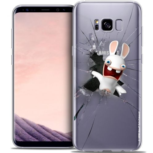 Crystal Gel Samsung Galaxy S8 (G950) Case Lapins Crétins™ Breaking Glass