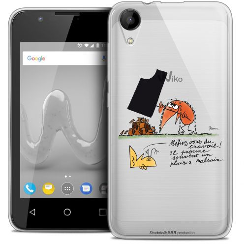 """Extra Slim Crystal Gel Wiko Sunny 2 (4"""") Case Les Shadoks® Le Travail"""