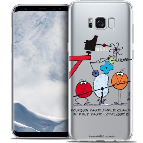 Extra Slim Crystal Gel Samsung Galaxy S8+/ Plus (G955) Case Les Shadoks® Pourquoi faire Simple