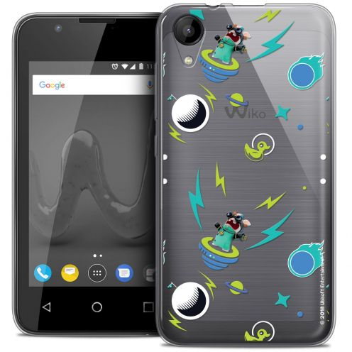 """Crystal Gel Wiko Sunny 2 (4"""") Case Lapins Crétins™ Space 1"""