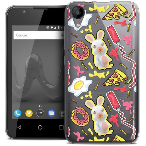 """Crystal Gel Wiko Sunny 2 (4"""") Case Lapins Crétins™ Egg Pattern"""