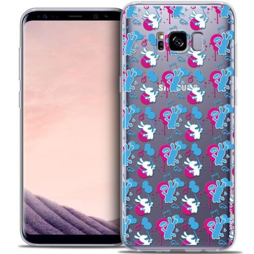 Crystal Gel Samsung Galaxy S8+/ Plus (G955) Case Lapins Crétins™ Rugby Pattern