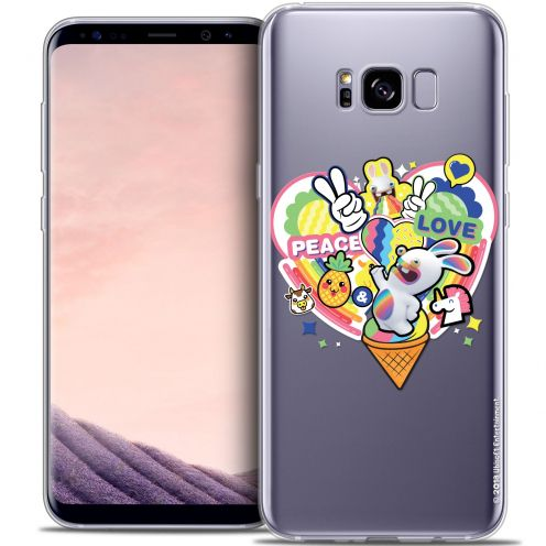 Crystal Gel Samsung Galaxy S8+/ Plus (G955) Case Lapins Crétins™ Peace And Love