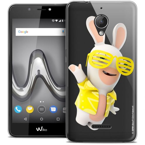 """Crystal Gel Wiko Tommy 2 PLUS (5.5"""") Case Lapins Crétins™ Sun Glassss!"""