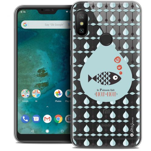 "Extra Slim Crystal Gel Xiaomi Mi A2 LITE (5.8"") Case Petits Grains® Le Poisson"