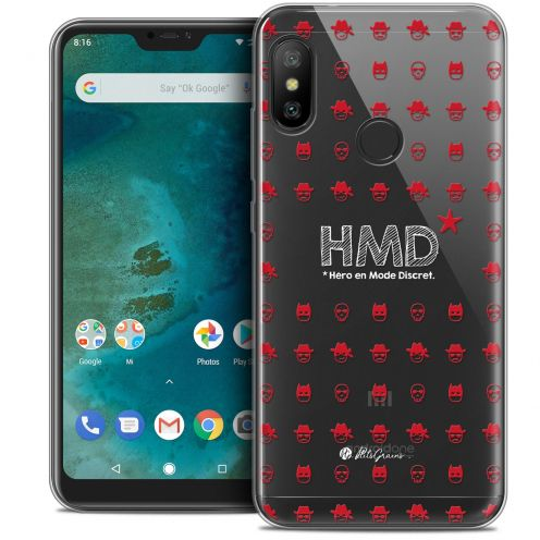 "Extra Slim Crystal Gel Xiaomi Mi A2 LITE (5.8"") Case Petits Grains® HMD* Hero en Mode Discret"