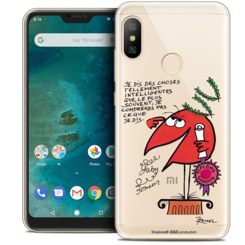"Extra Slim Crystal Gel Xiaomi Mi A2 LITE (5.8"") Case Les Shadoks® Intelligent"