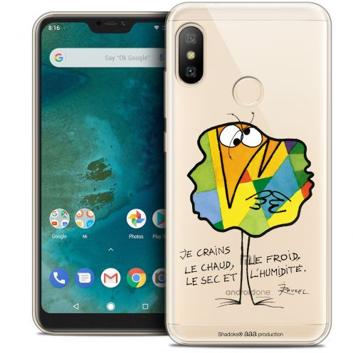 "Extra Slim Crystal Gel Xiaomi Mi A2 LITE (5.8"") Case Les Shadoks® Chaud ou Froid"