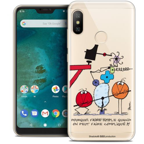 "Extra Slim Crystal Gel Xiaomi Mi A2 LITE (5.8"") Case Les Shadoks® Pourquoi faire Simple"