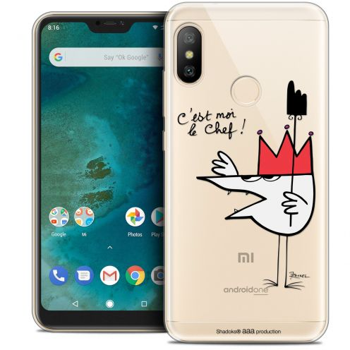 "Extra Slim Crystal Gel Xiaomi Mi A2 LITE (5.8"") Case Les Shadoks® Le Chef"