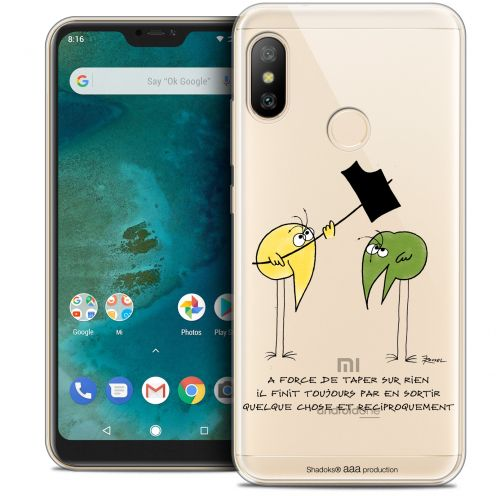 "Extra Slim Crystal Gel Xiaomi Mi A2 LITE (5.8"") Case Les Shadoks® A Force"