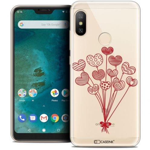 "Extra Slim Crystal Gel Xiaomi Mi A2 LITE (5.8"") Case Love Ballons d'amour"