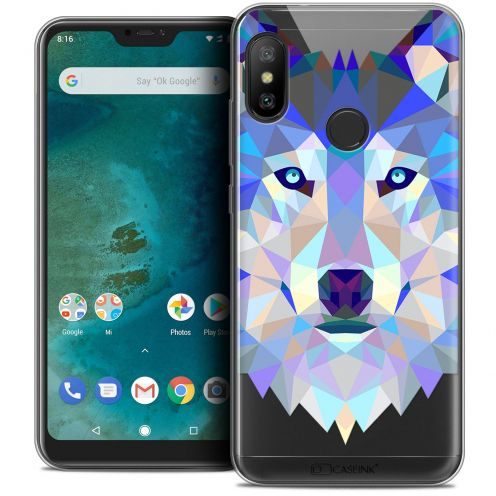 "Extra Slim Crystal Gel Xiaomi Mi A2 LITE (5.8"") Case Polygon Animals Wolf"