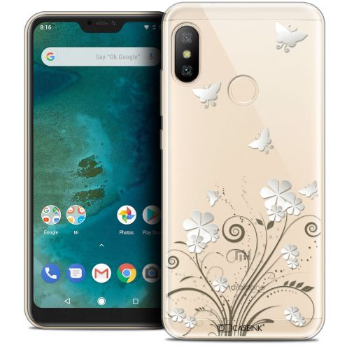 "Extra Slim Crystal Gel Xiaomi Mi A2 LITE (5.8"") Case Summer Papillons"
